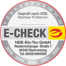 Geprüft nach VDE – E-Check